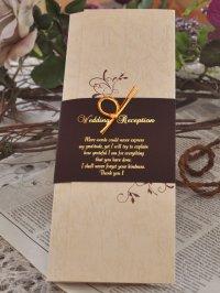 エレガント 結婚式席次表B4(片面印刷込み)