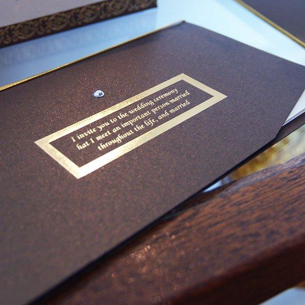 画像2: クラシック 結婚式招待状(印刷込み)