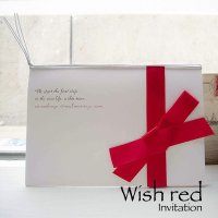 ウィッシュ・レッド 結婚式招待状(印刷込み)