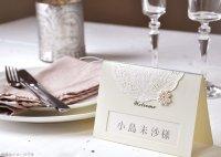 ティアラ・アイボリー 結婚式席札L(メニュー、サンキューカード)(両面印刷込み)