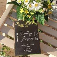 ガーデンスタイル 結婚式招待状(印刷込み)