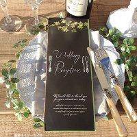 ガーデンスタイル 結婚式席次表A3(片面印刷込み)