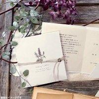 サラ 結婚式招待状(印刷込み)