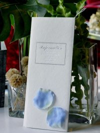 アンジュ・ブルー 結婚式席次表B4(片面印刷込み)