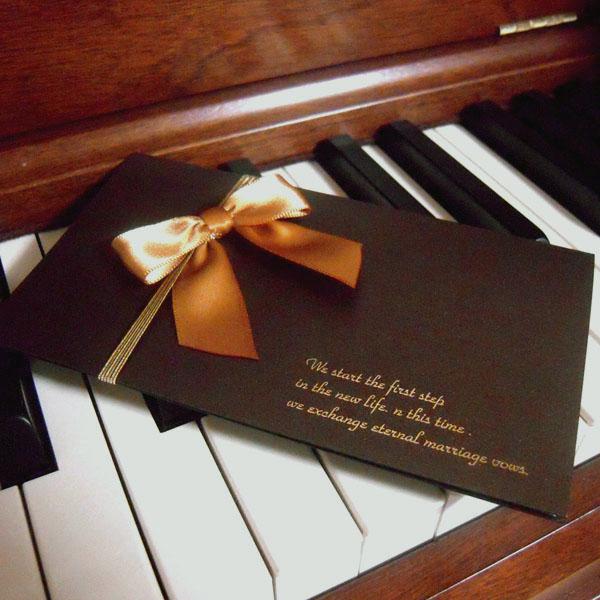 クラシックリボン 結婚式招待状