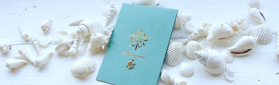 ターコイズ結婚式招待状