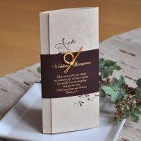 エレガント 結婚式席次表A4(片面印刷込み)