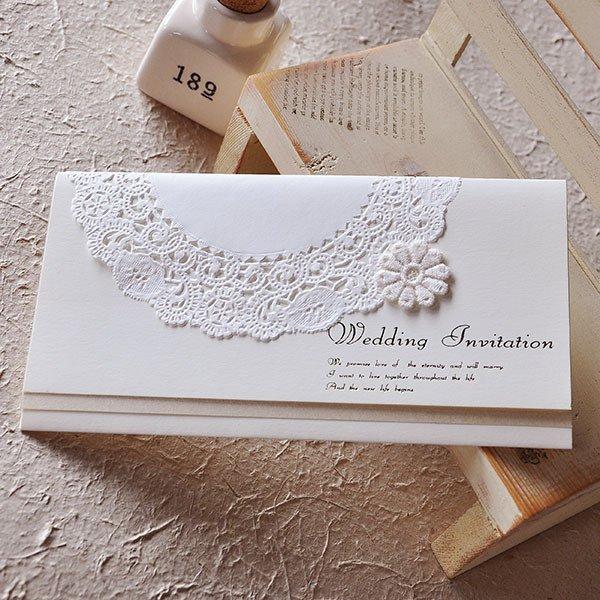 画像3: ティアラ・アイボリー 結婚式招待状
