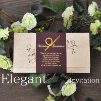 エレガント 結婚式招待状(印刷込み)