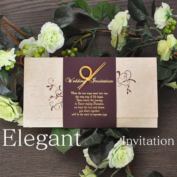 画像1: エレガント 結婚式招待状(印刷込み)