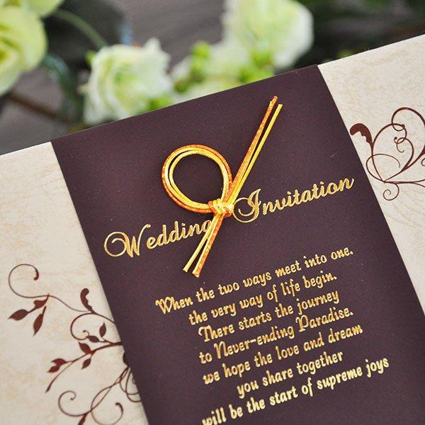 画像2: エレガント 結婚式招待状(印刷込み)