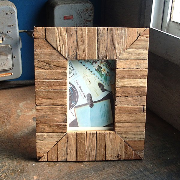 画像1: リサイクルウッド フォトフレーム Aタイプ