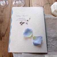 アンジュ・ブルー 結婚式席次表A4(片面印刷込み)