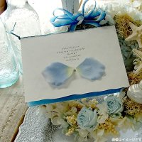アンジュ・ブルー 結婚式招待状(印刷込み)