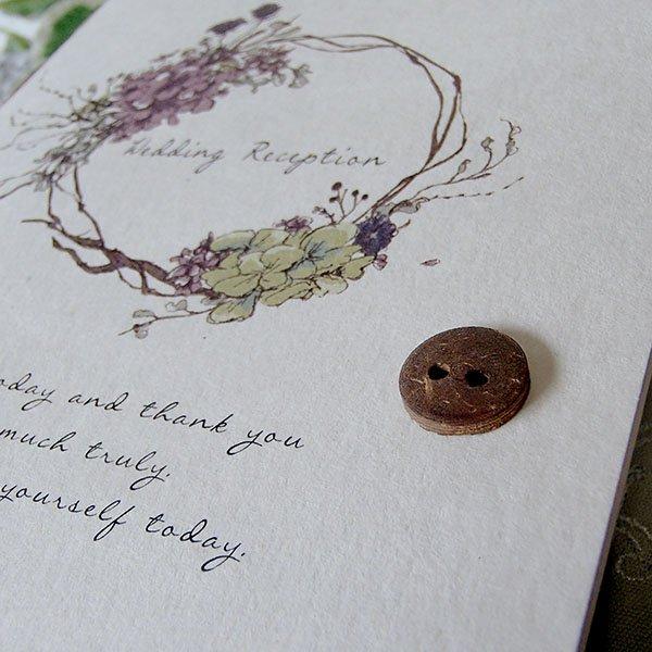 画像2: リエット 結婚式招待状(印刷込み)
