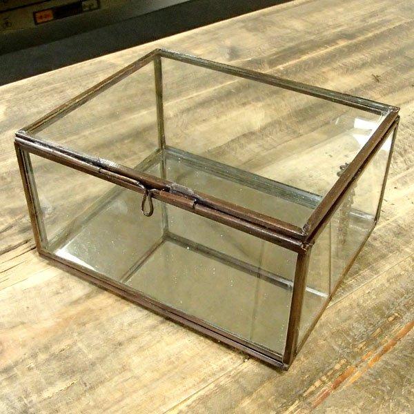 画像1: アンティークボックス ガラスLタイプ